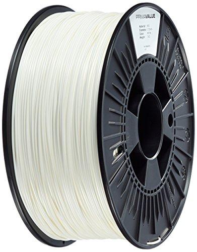 Prima Filaments PV-ABS-175-1000-WH PrimaValue Filamento ABS, 1.75 mm, carrete de 1 kg
