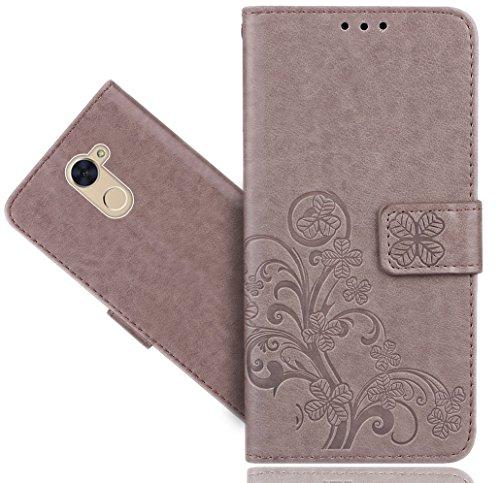 Preisvergleich Produktbild Huawei Y7 Prime / Huawei Y7 Handy Tasche, FoneExpert® Wallet Case Cover Flower Hüllen Etui Hülle Ledertasche Lederhülle Schutzhülle Für Huawei Y7 Prime / Y7 / Enjoy 7 Plus