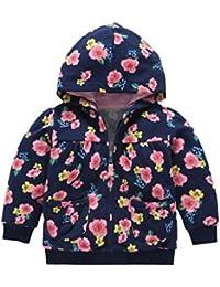 Navidad Abrigo para bebé niña niño con capucha , Yannerr Chico invierno Impresión flor encapuchados chaqueta sudadera capa outwear gruesa caliente Cardigan ropa