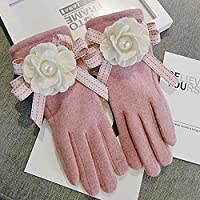 WCDF gloves Gloves Women Gloves Full Finger Touch Screen Warm Mittens Candy Gloves gloves ( Color : Pink )