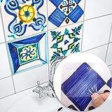 DMZH 100 STÜCKE Valencian Style Fliesen Aufkleber Dekorative Aufkleber Reise Aufkleber Kreative Rutschfeste Selbstklebende Wandtattoos Floor Sticker,A20cm*20Cm
