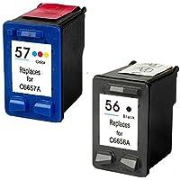 Prestige Cartridge HP 56 / HP 57 Pack de 2 cartuchos de tinta para HP Photosmart/Deskjet/Officejet Serie, color y negro