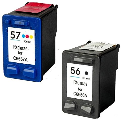 Prestige Cartridge HP 56 / HP 57 Pack de 2 cartuchos de tinta para HP Photosmart/Deskjet/Officejet Serie, color y negro