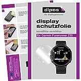 dipos I 2X Schutzfolie klar passend für Garmin Forerunner 235 Folie Bildschirmschutzfolie