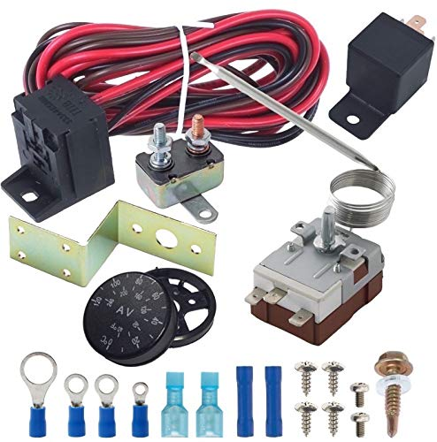 American Volt 32-250'F verstellbar Zifferblatt Elektrischer Lüfter Thermostat Controller 40A Relais Kabelbaum -