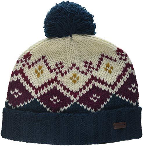 Fat Face Damen Diamond Knit Strickmütze, Grün (Teal), One Size - Diamond Knit Hat
