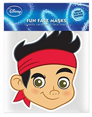 empireposter Jake and The Never Land Pirate Jake Papp Maske, aus hochwertigem Glanzkarton mit Augenlöchern, Gummiband - Grösse ca. 30x20 cm