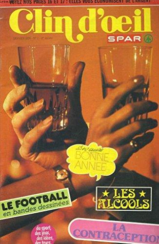 clin-d-39-oeil-magazine-spar-n-1-janvier-1976-bonne-annee-le-football-en-bandes-dessinees-la-contraception-les-alcools