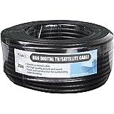 Philex Câble satellite RG6 25 m Noir (Import Royaume Uni)