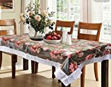 #9: Kuber Industries™ PVC Dining Table Cover 6 Seater 60*90 Inches (Exclusive Design With White Lace)