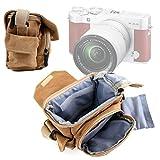 Etui de transport pour Yi M1, Fujifilm X-A3, Nikon CoolPix W100 et Polaroid IF045 et Polaroid Snap et Snap Touch, Kodak AZ251 appareils photo compacts - style vintage - DURAGADGET