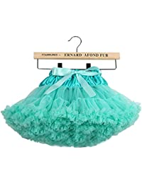 Falda clásica del tutú del ballet de Tulle de las niñas? 5-7 años / M, verde claro