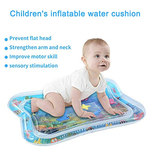 Dealinkee Baby Inflatable Patted Water Play Pad Tummy Time Toy Baby Prostrate Water Filled Cushion