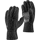 Black Diamond Yetiweight - warme, Touchscreen-kompatible Fleece Handschuhe mit weichem Tragegefühl & Wildleder-Flächen/Schwarz, Unisex, Größe: XL