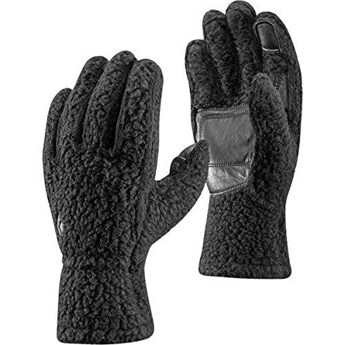 Black Diamond Yetiweight - Warme, Touchscreen-kompatible Fleece Handschuhe mit Weichem Tragegefühl & Wildleder-Flächen/Schwarz, Unisex, Größe: M