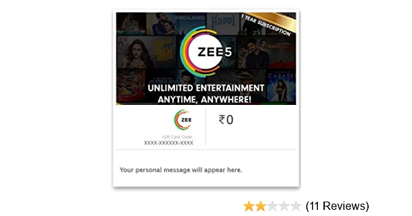 ZEE5 One Year Subscription Digital Voucher: Amazon in: Gift Cards