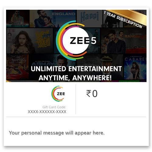 ZEE5 One Year Subscription Digital Voucher: Amazon in: Gift
