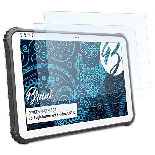 Bruni Schutzfolie für Logic Instrument Fieldbook K122 Folie, glasklare Displayschutzfolie (2X)