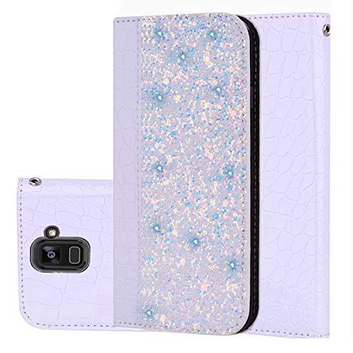 """für Smartphone Samsung Galaxy A8 (2018) Hülle, Leder Tasche für Samsung Galaxy A8 (2018) (5.6\"""" Zoll) Flip Cover Handyhülle Bookstyle mit Magnet Kartenfächer Standfunktion (4)"""