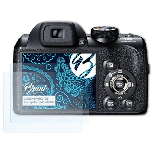 Bruni Película Protectora para Fujifilm FinePix S4300 Protector Película, Claro Lámina Protectora (2X)