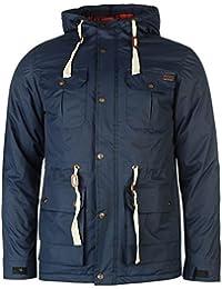 Lee Cooper Parka rembourrée Veste pour homme Bleu marine vestes manteaux Parka