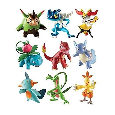 Tomy Pokémon - T18524d - Figurines de Combat - Pack Aléatoire de 3 Figurines