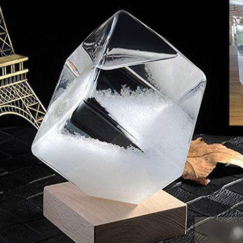Transparent Kristallwasser-Tropfen Wetter Flasche Sturm Glas Flüssig Holzgestell Ornament Startseite Hochzeitsdeko Fertigkeit-Geschenk 19th Century Muster