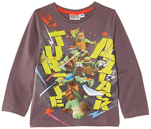 Nickelodeon Jungen T-Shirt Teenage Ninja Mutant Hero Turtles NH1274, Gr. 98 (Herstellergröße: 3 ans), Grau (T Teenage Mutant Ninja)