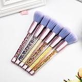 6 Stück Pro Soft Contour Gesichtspuder Foundation Erröten Pinsel Make-Up Kosmetisches Werkzeug
