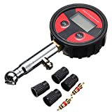 ILS - 200psi LCD Digital Tire Tyre Air Pressure Gauge Tester For Car Auto Motorcycle Bike