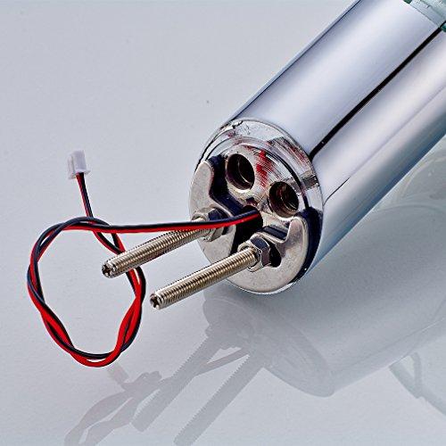 LED RGB Glas Waschtisch Wasserhahn Wasserfall Armatur Waschbecken Einhebelmischer Mischbatterie für Badzimmer -