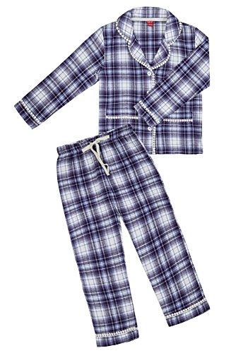 La-V Mädchen Pyjama Lila/Größe 116/122 (Flanell-kinder-pyjama)