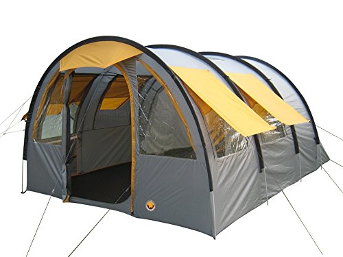 Grand Canyon Parks 5 - Tente familiale (5 personnes), grise/orange, 302024