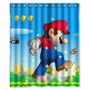 Super Mario Bros Custom Rideau de douche 152,4x 182,9cm Rideaux de Salle de Bain