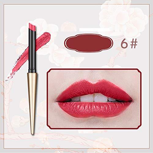 Quaan Leichter Lippenstift Marke 12 Farben Matt Ball Kopf Lipsik Wasserdicht Dauerhaft Bilden Tube Glänzend Wasserdicht Lange Dauerhaft