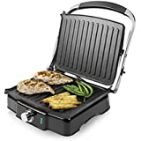Tower Health T27011 Panini Grill Featuring With Ceramic Non Stick Coating, 180 Degree, 2000 Watt