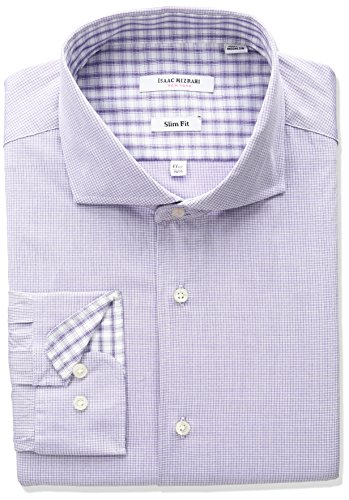 isaac-mizrahi-mens-slim-fit-micro-check-cut-away-collar-dress-shirt-purple-16-neck-32-33-sleeve