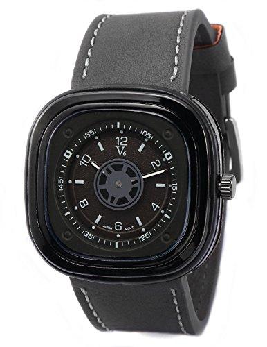 AMPM24 Herren Armbanduhr Analog Rechteck Zifferblatt Grau XXL Uhr WAA977