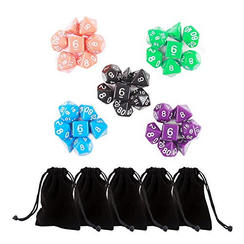 moonli-5x7-35-pieces-polyhedral-dice-in-5-complete-sets-with-5-pack-black-large-velvet-dice-bag-for-
