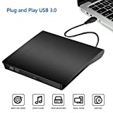 Externes CD DVD Laufwerk Brenner USB 3.0 Tragbare Ultra Slim CD/DVD RW Writer Player Rewriter Disc für Windows 10 7/8 / Vista / XP / Mac OS Linux