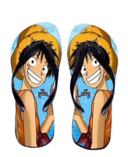 Bromeo One Piece Anime Unisex Flip Flops Zehentrenner Flip Pantoffeln 367