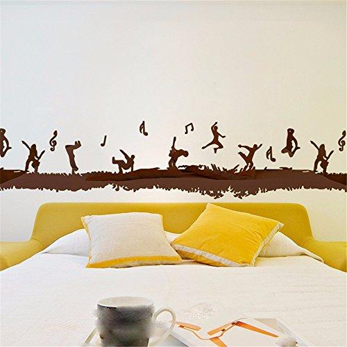 ALLDOLWEGE Das kreative Kinderzimmer Wandhalterung 3D entlang der Wand akzentuierten Bewegungsmuster Zaun 3D-dekorative Wandhalterung Ecke Wandhalterung, der Espresso 0* 27 cm (Espresso-wandhalterung)