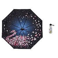 LYJZH Compact Umbrella Windproof Travel Folding Umbrellas, Portable Lightweight Umbrella 50% UV protection umbrella colour 95cm