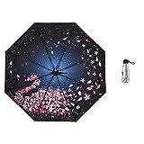 LYJZH Parapluie Pliant Coupe-Vent Parapluie Pliable et Compact Parapluie de Voyage pour Homme et Femme 50% Protection UV Parapluie Couleur 95cm