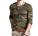 #6: Army T Shirts for Men Military Round Neck Full Sleeve TShirts