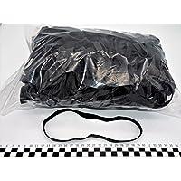 Progom - Gomas Elasticas - 200(Ø127)mm x 10mm - negro - bolsa de 1kg