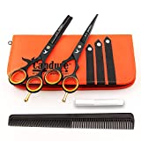 Forbici da barbiere/parrucchiere, per taglio, sfoltimento e sfumatura di capelli, 14 cm