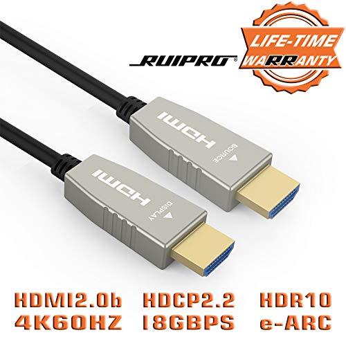 Faser-HDMI-Kabel RUIPRO 4K60HZ HDR 40 Fuß Light Speed HDMI2.0b-Kabel, Unterstützt 18,2 Gbit / s, ARC, HDR10, Dolby Vision, HDCP2.2, 4: 4: 4, ultradünnes und flexibles HDMI-Optikkabel mit 12 m Länge