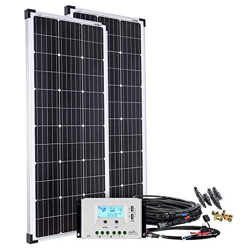 Offgridtec Solaranlage basicPremium-L 200W mit 30A LCD Laderegler Profi Kabelkit 002635