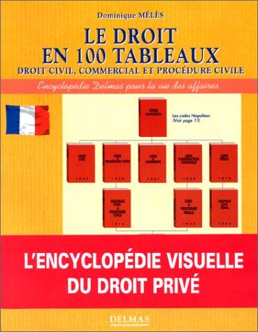 Le Droit en 100 tableaux : Droit civil, commercial et procédure civile par Dominique Mélès